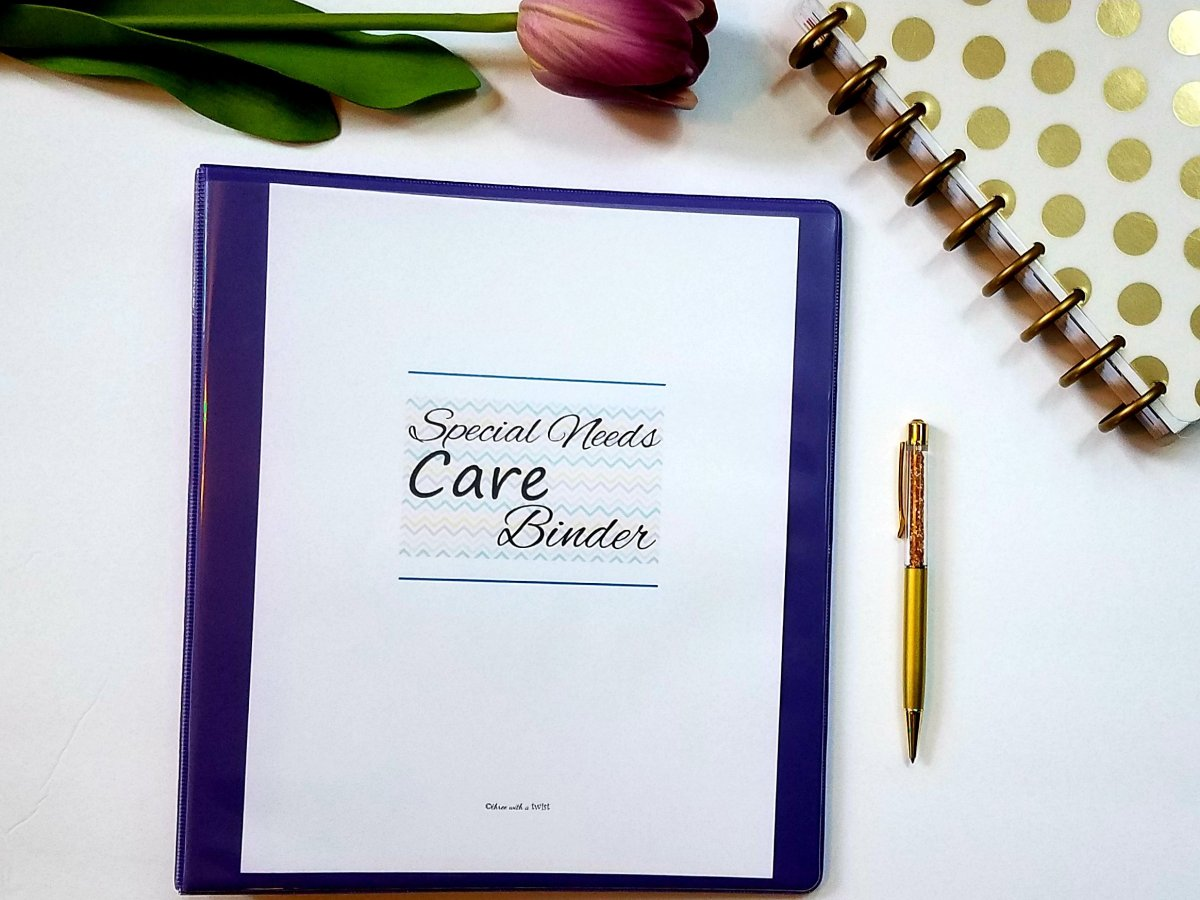 How to Build a Special Needs Care Binder with Free Inserts